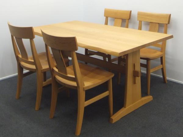 KASHIWA 柏木工 ダイニングセット 4人用 テーブル イス 飛彈家具