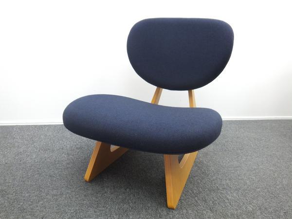 Tendo 天童木工 低座椅子 長大作 ブルー ナラ材