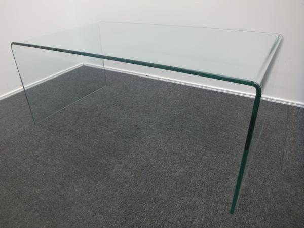 IDC大塚家具 ガラス センター テーブル サターン